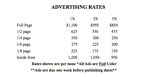 golf advertising rates